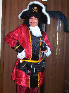 captain hook costume character boys girls birthday parties nashville tn