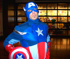 captain america avengers superhero costume kids birthday party entertainment
