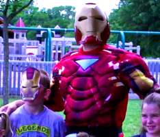 iron man tony stark avengers costumed entertainer for tn ky childrens parties