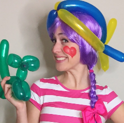 nashville kids birthday clown balloon animals balloon hats face painting service cheap affordable
