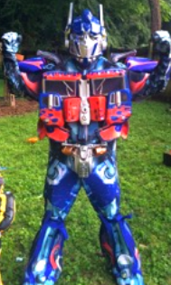 optimus prime costumed character for kids birthday party entertainment brentwood franklin